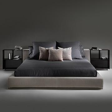 groundpiece bett von flexform cramer m bel design. Black Bedroom Furniture Sets. Home Design Ideas