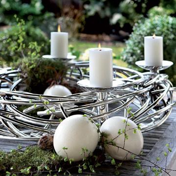 Wohnaccessoires adventskr nze corona von fink cramer for Adventskranz edelstahl dekorieren