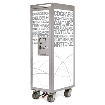 Bordbar Trolley Silver Edition Airports