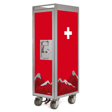 Bordbar Trolley Silver Edition Swiss Cross