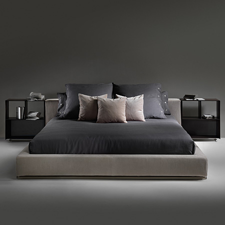 groundpiece bett von flexform cramer m bel design. Black Bedroom Furniture Sets. Home Design Ideas