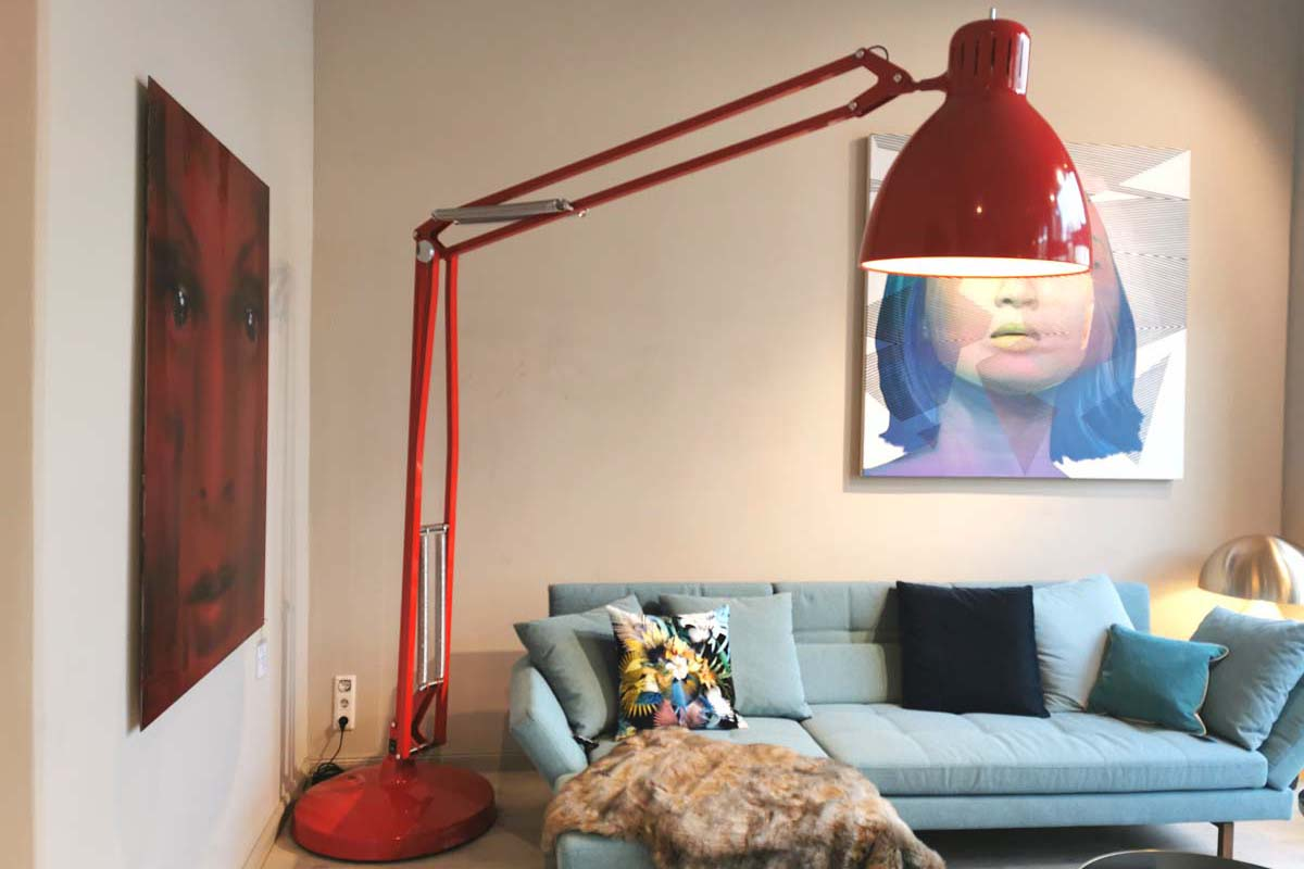 Ausstellungstück im Sale: Stehleuchte Great JJ von Baxter für 3.586 €
