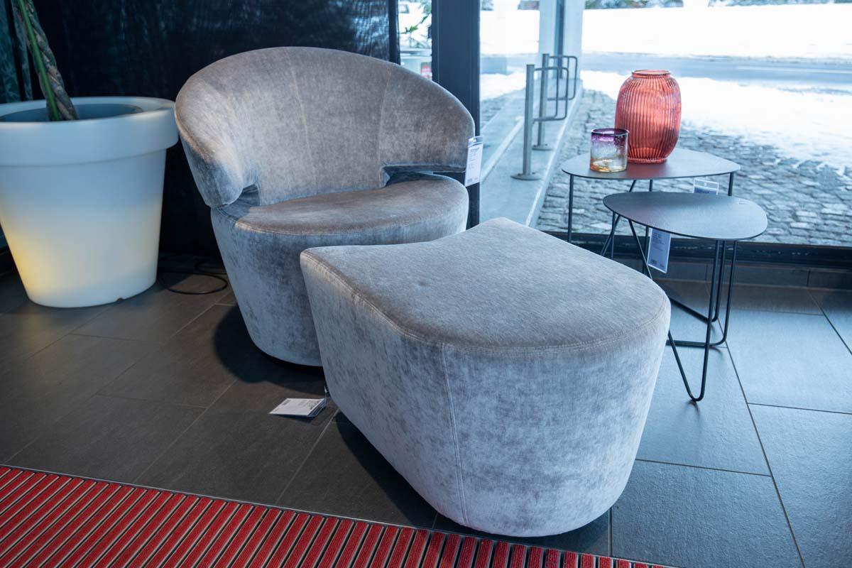 Ausstellungstück im Sale: Sessel Trick inkl. Hocker von Werther für 1.790 €