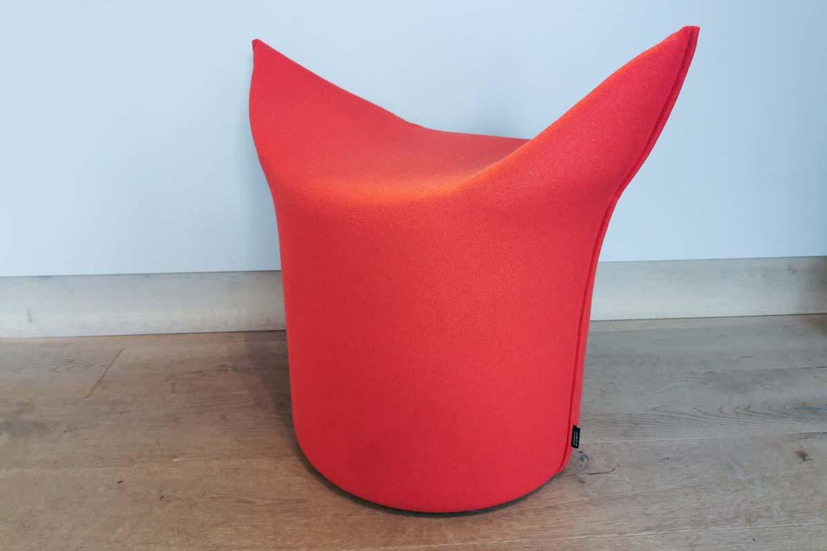 Ausstellungstück im Sale: Zipfel-Hocker niedrige Variante in rot von Werther für 145 €