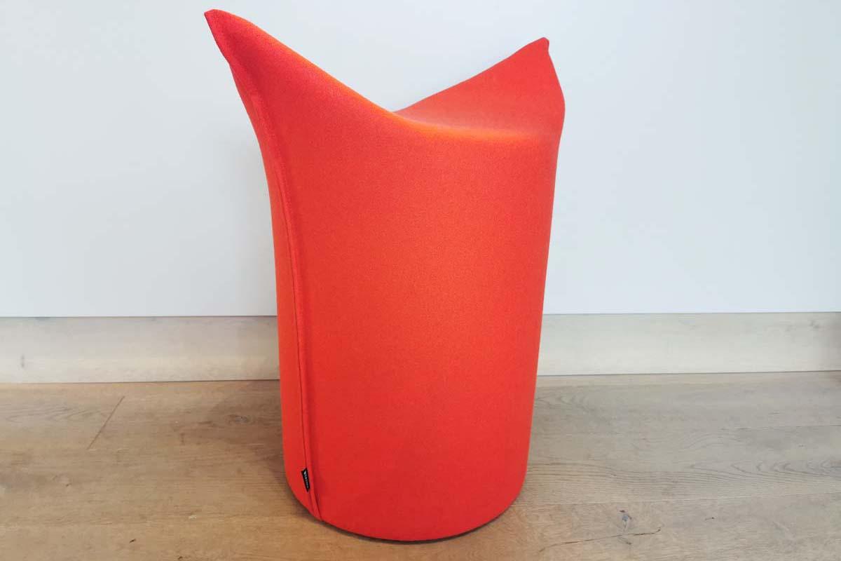 Ausstellungstück im Sale: Zipfel-Hocker hohe Variante in rot von Werther für 145 €