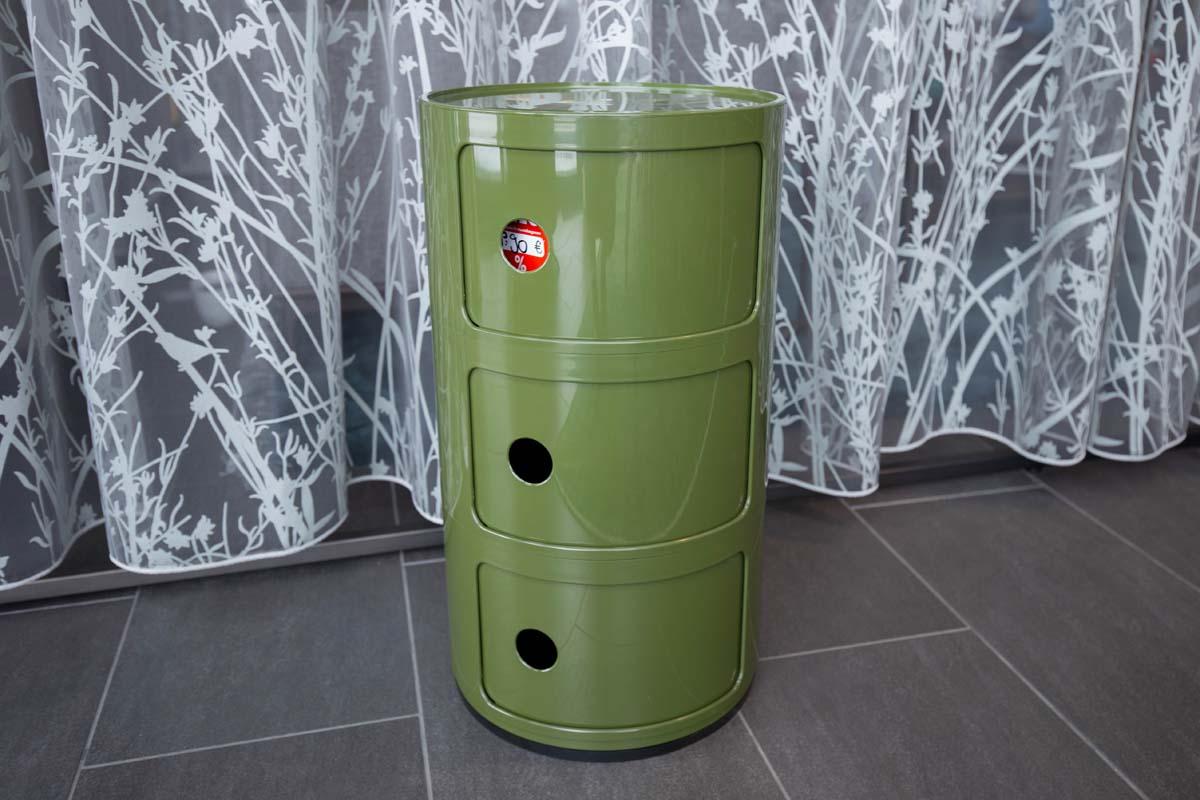 Ausstellungstück im Sale: Rundkommode Componibili 3 grün von Kartell für 90 €