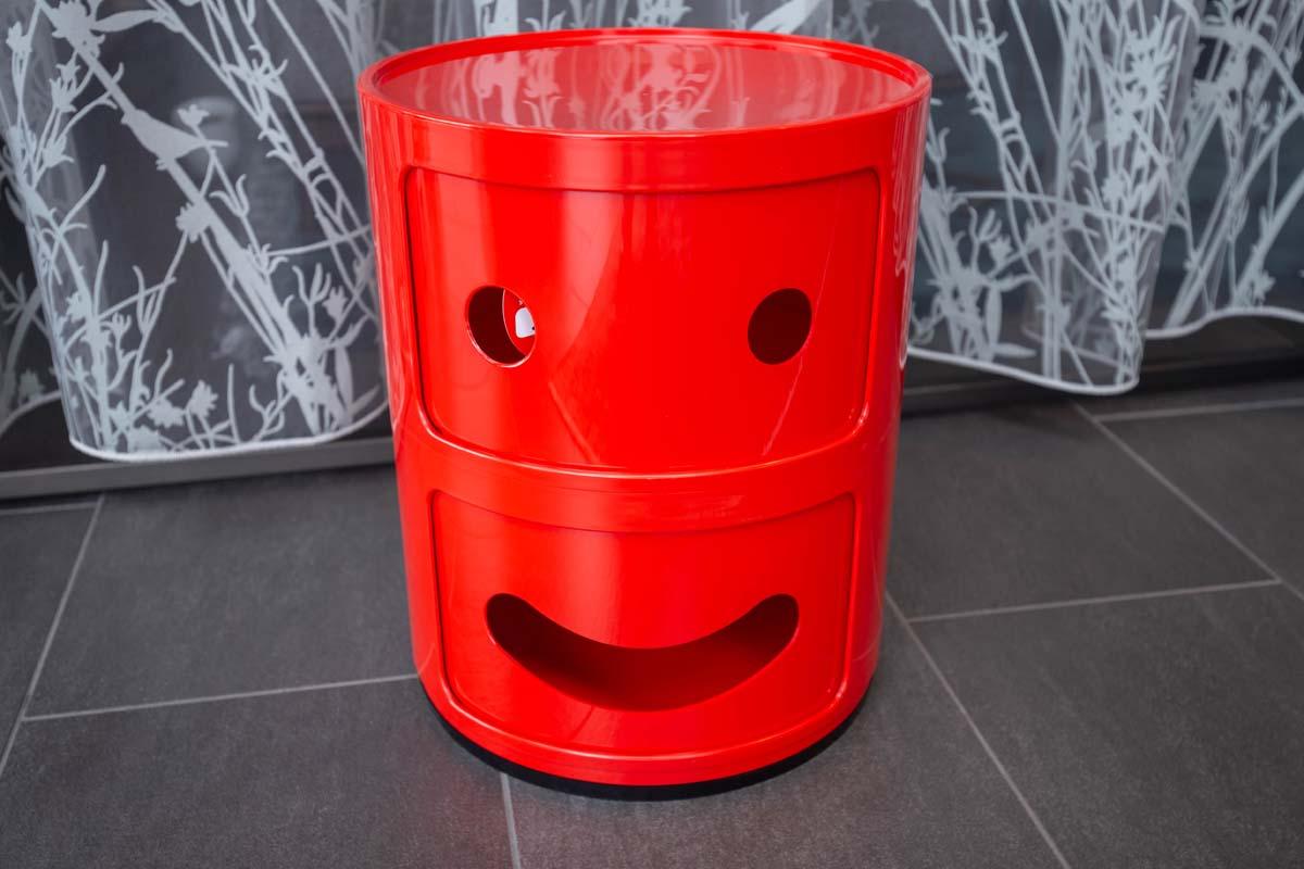 Ausstellungstück im Sale: Rundkommode Componibili Smile von Kartell für 70 €