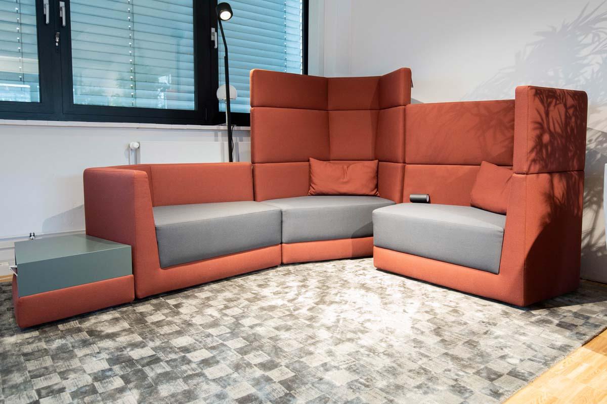 Ausstellungstück im Sale: Sitzgruppe Scope inkl. Anbautisch von COR für 7.900 €