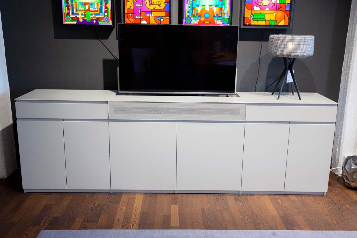 Ausstellungstück im Sale: TV-Sideboard Cavum von Cramer Holzmanufaktur für 6.490 €